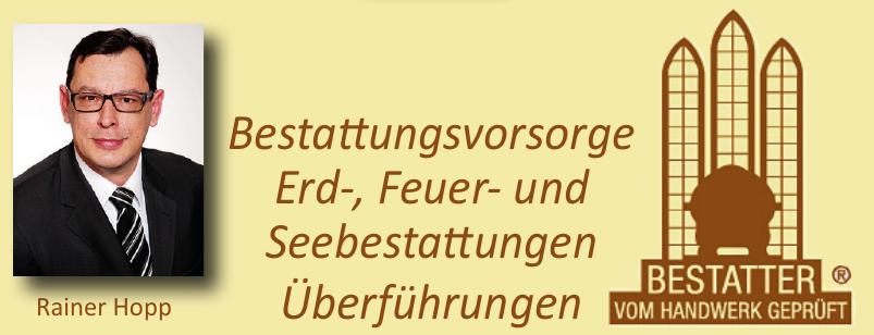 Bestattungsvorsorge Rainer Hopp