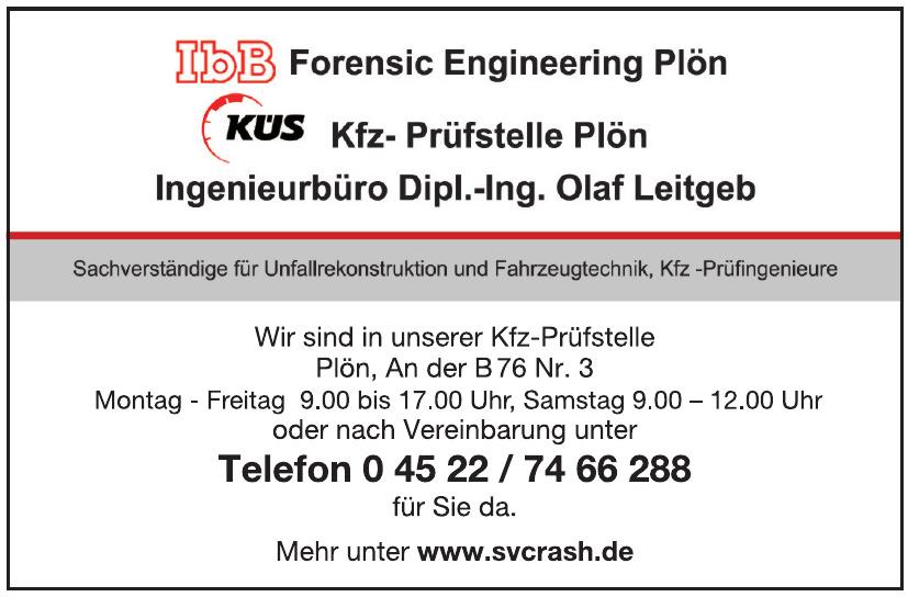 Sachverständige für Unfallrekonstruktion und Fahrzeugtechnik, Kfz-Prüfingenieure