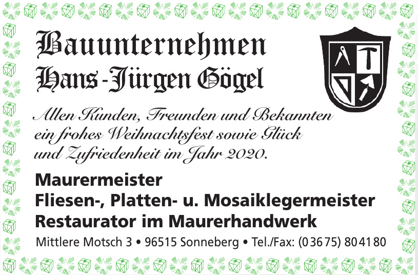 Bauunternehmen Hans-Jürgen Gögel