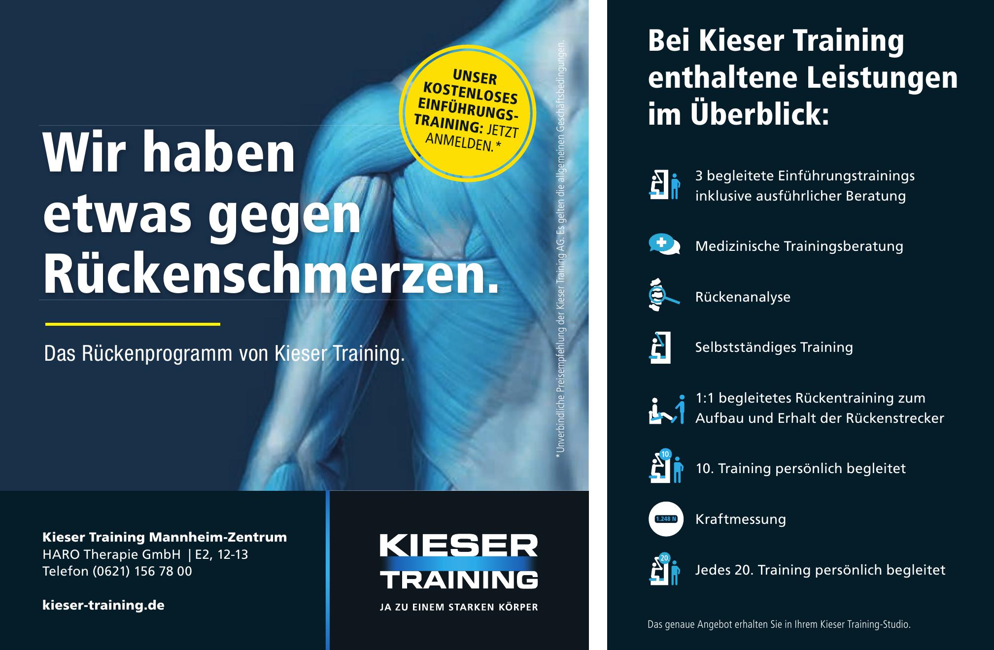 Kieser Training Mannheim-Zentrum HARO Therapie GmbH