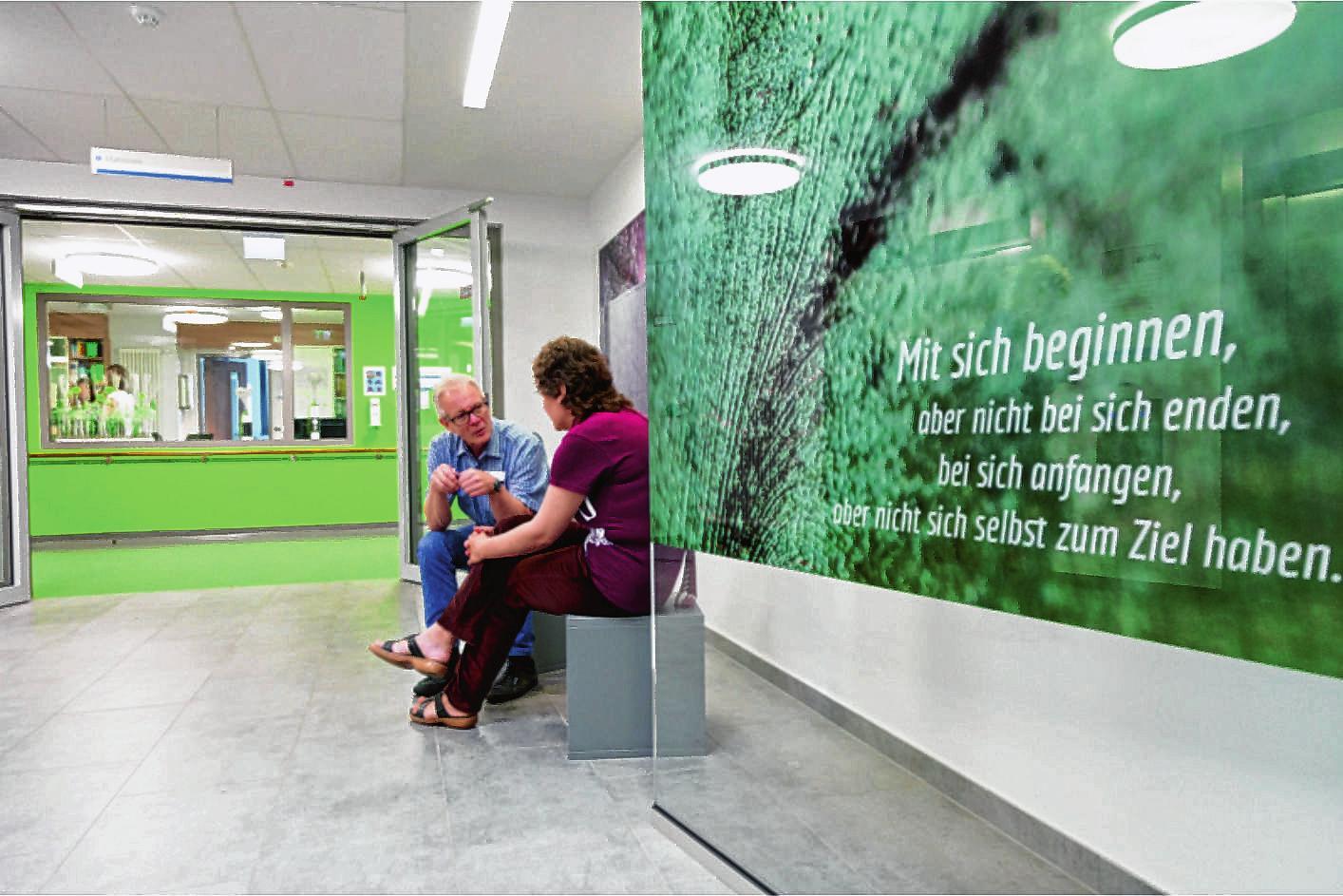 Das Team des Vitos Klinikums Heppenheim nimmt sich ausreichend Zeit für die Patienten.