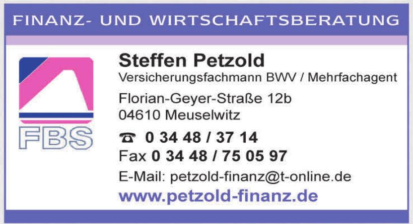 FBS Steffen Petzold Versicherungsfachmann BWV / Mehrfachagent