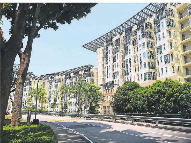 Ein Studentenwohnheim in Singapur