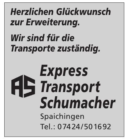 Express Transport Schumacher