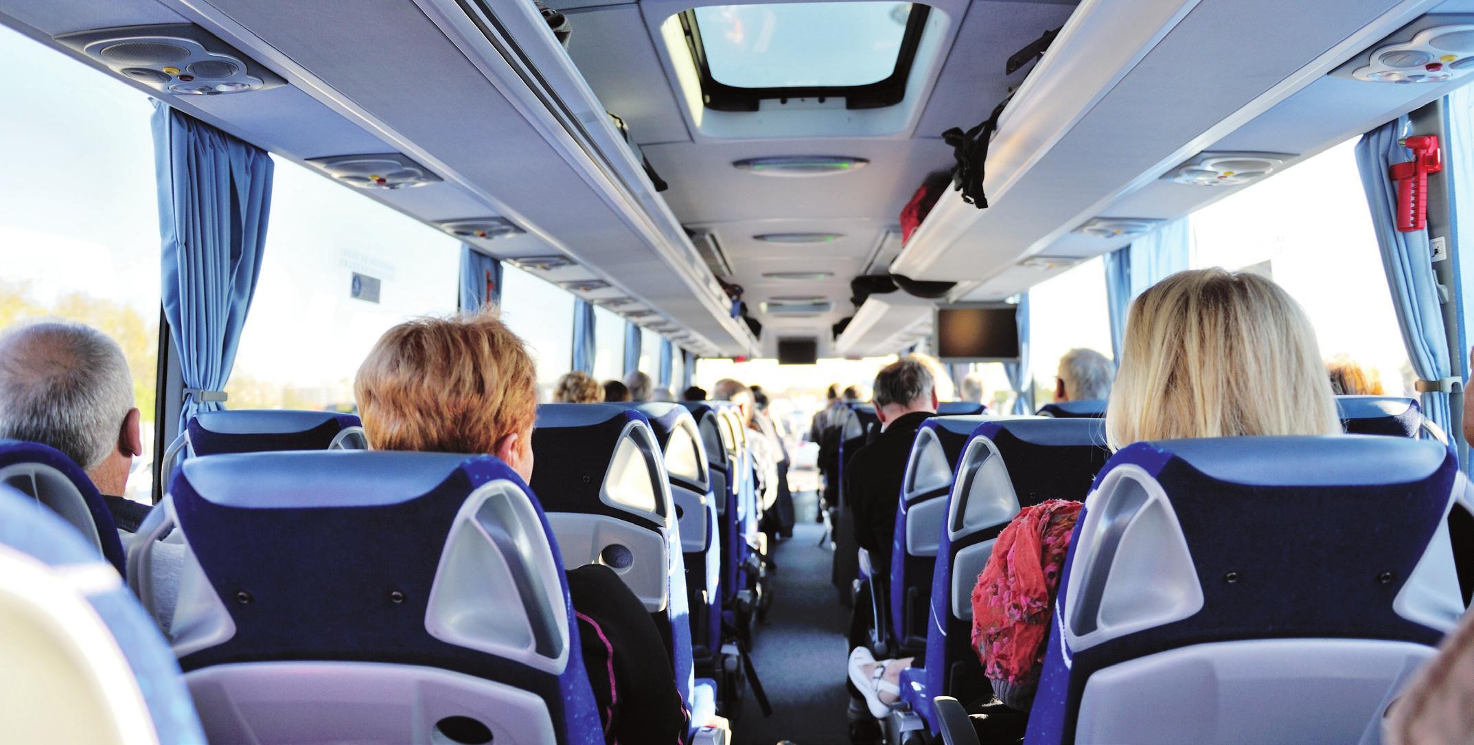In den Bussen selbst sorgt unter anderem die moderne Belüftungstechnik für Sicherheit.