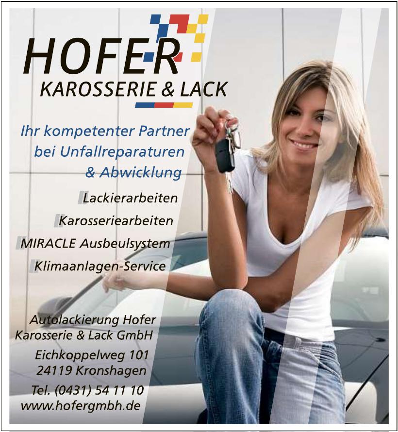 Autolackierung Hofer Karosserie & Lack GmbH