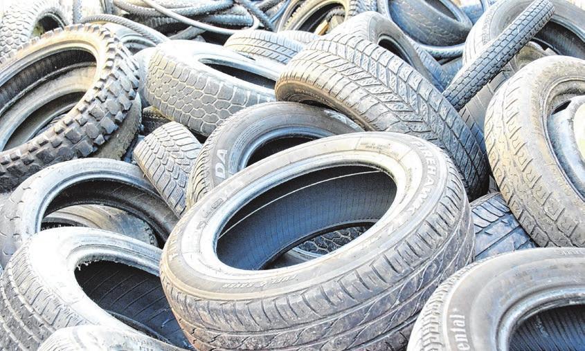 Wenn sie nicht mehr runderneuert werden können, werden Reifen zu neuen Produkten. Foto: Archiv