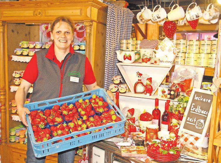 Die Erdbeeren von Meyer's Hof sind auch für Marion Meyer Grundlage ihrer Spaghetti-Erdbeertorte.