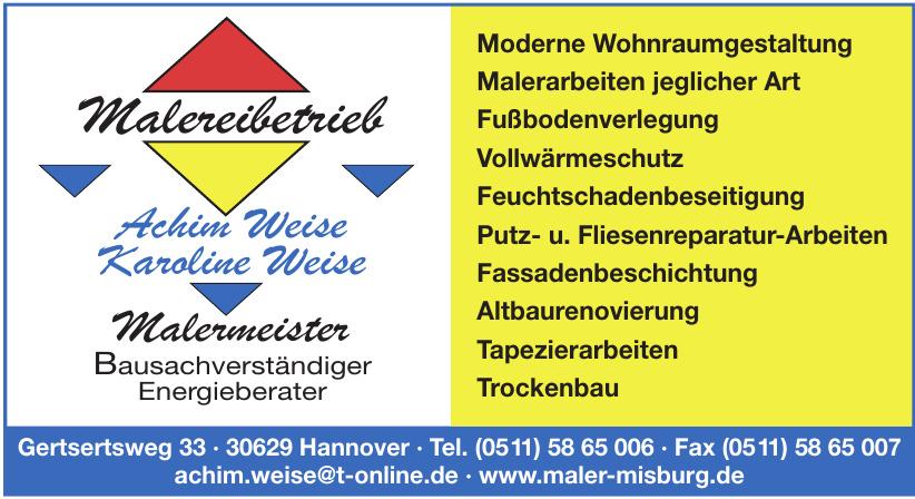 Achim Weise, Karoline Weise - Malermeister