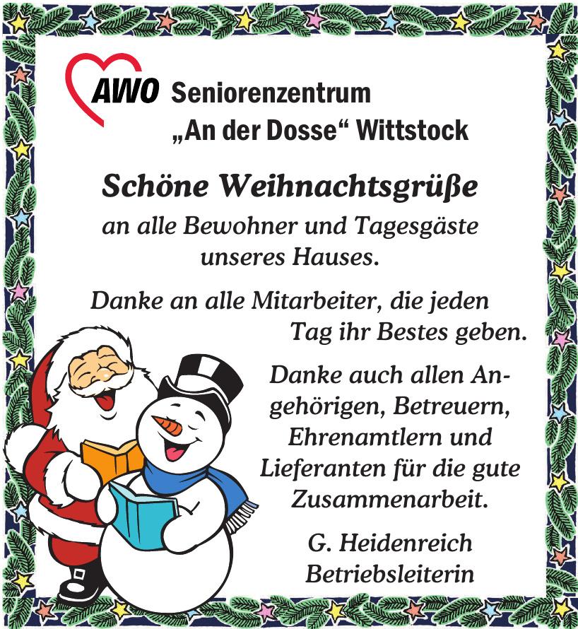 """AWO Seniorenzentrum """"An der Dosse"""" Wittstock"""