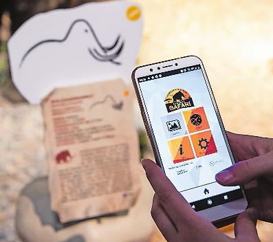 """Extras: Die kostenlose """"Eiszeit-Safari-App"""" bietet Multimedia-Infos sowie Spiele, die auch nach dem Besuch noch gespielt werden können. Foto:©rem"""