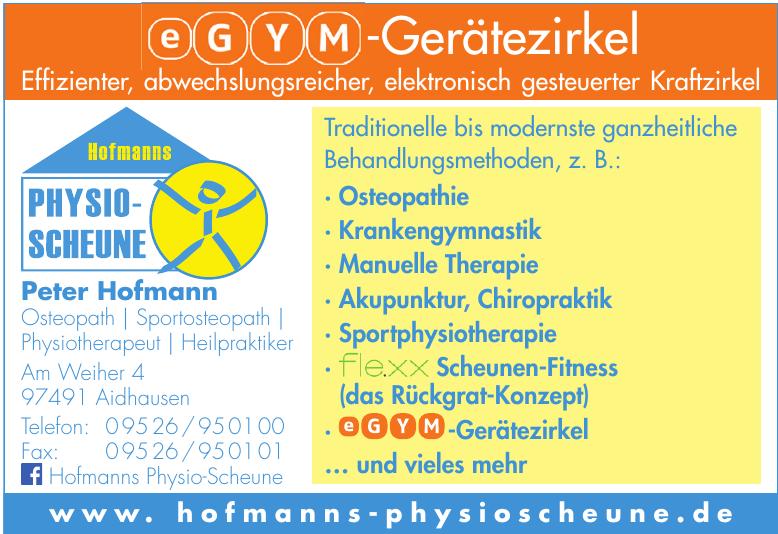 Peter Hofmann Osteopath/Physiotherapeut/Heilpraktiker