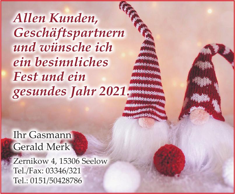Gasmann Gerald Merk