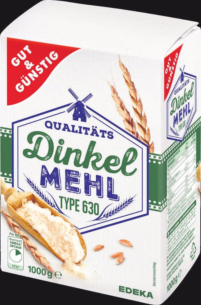 """Das GUT&GÜNSTIG Dinkelmehl Type 630 überzeugt nicht nur alle Dinkel-Fans, sondern auch die Tester von """"Ökotest""""."""