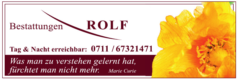 Bestattungen Rolf