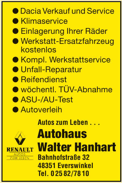 Autohaus Walter Hanhart
