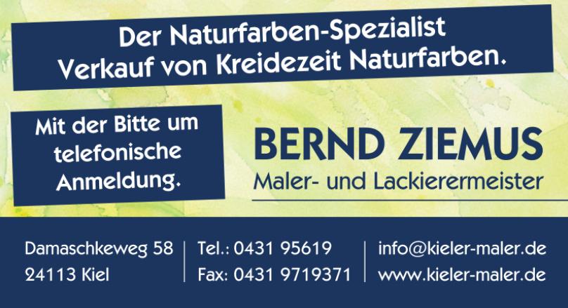 Maler- und Lackiermeister Bernd Ziemus