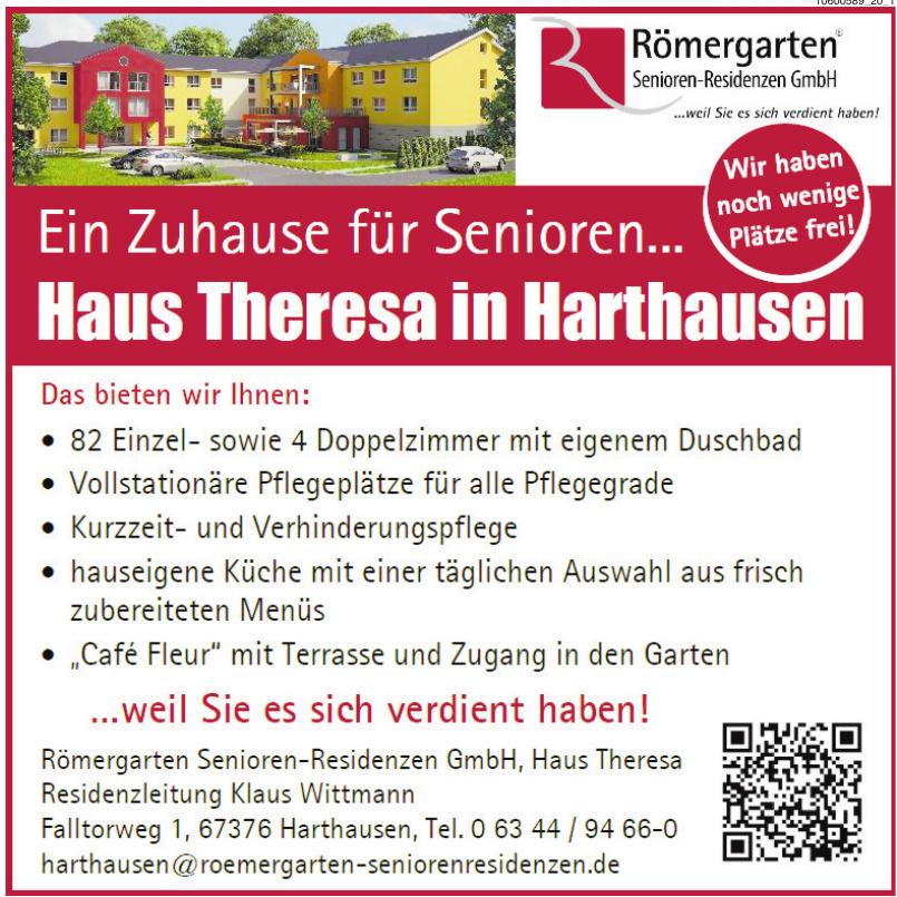 Römergarten Senioren-Residenzen GmbH, Haus Theresa Residenzleitung Klaus Wittmann
