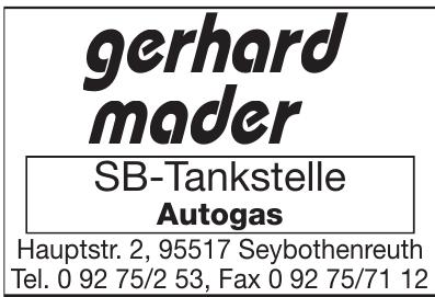 Gerhard Mader SB-Tankstelle Autogas