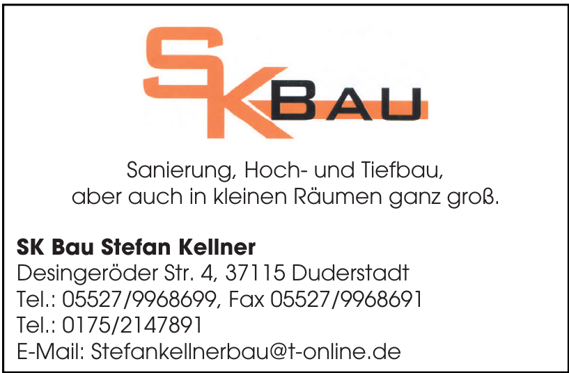SK Bau Stefan Kellner