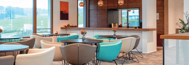 Die Lounge für Mitarbeiter und Gäste.