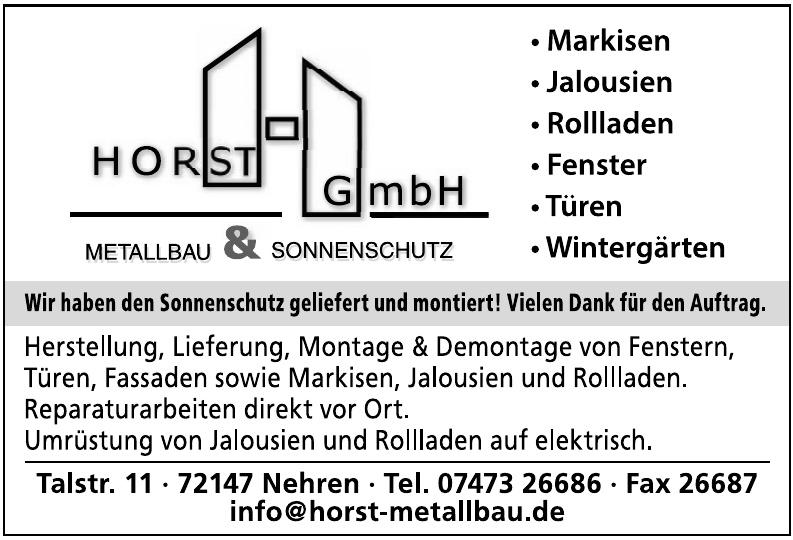 Horst GmbH Metallbau & Sonnenschutz