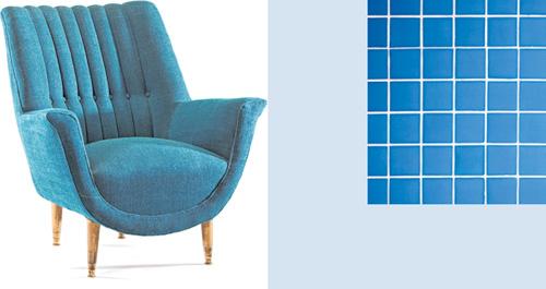 Klassische Farben bei Retromöbeln und Schwimmbad. FOTOS: ISTOCK / YARN/TICK-TOCK