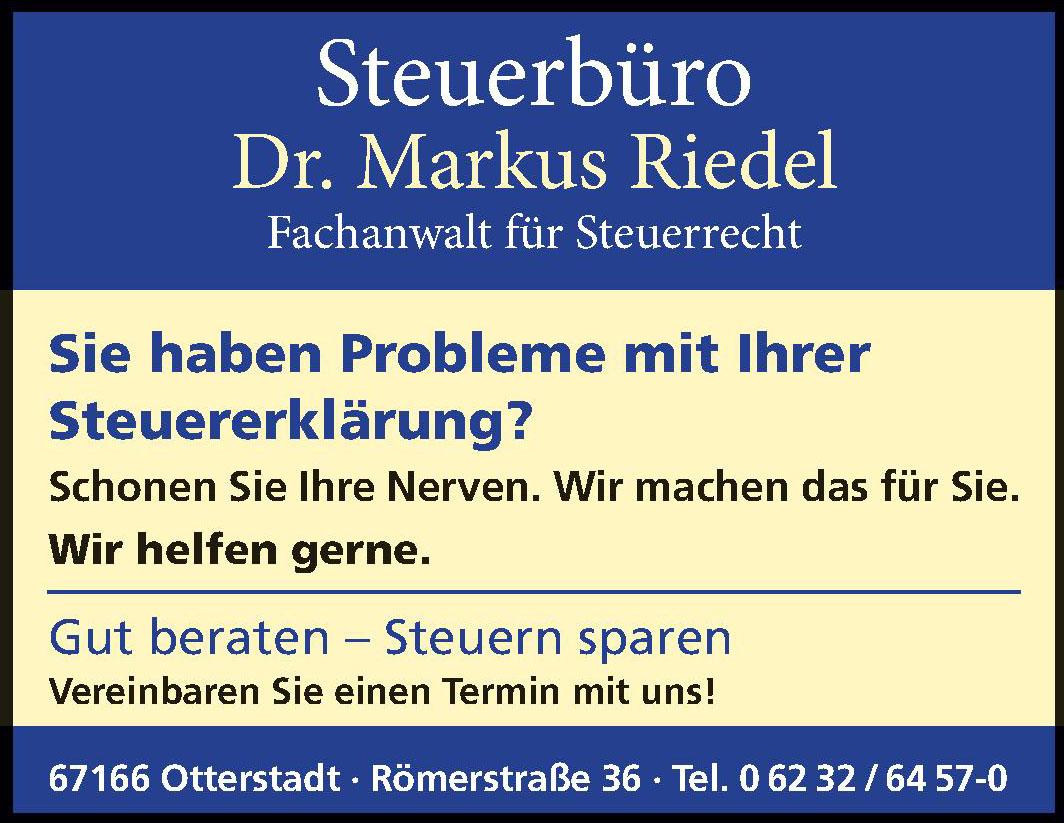 Steuerbüro Dr. Markus Riedel Fachanwalt für Steuerrecht