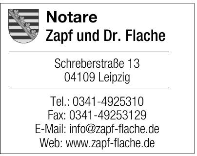 Notare Zapf und Dr. Flache