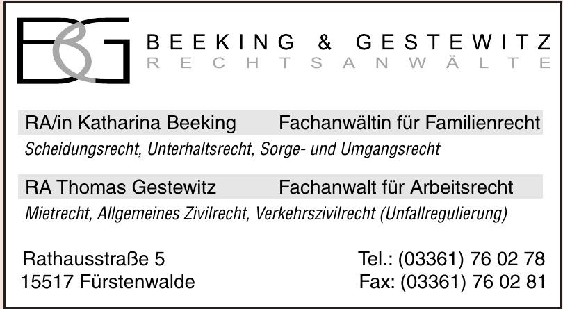 BG Beeking & Gestewitz Rechtsanwälte