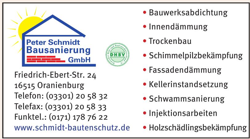 Peter Schmidt Bausanierung GmbH