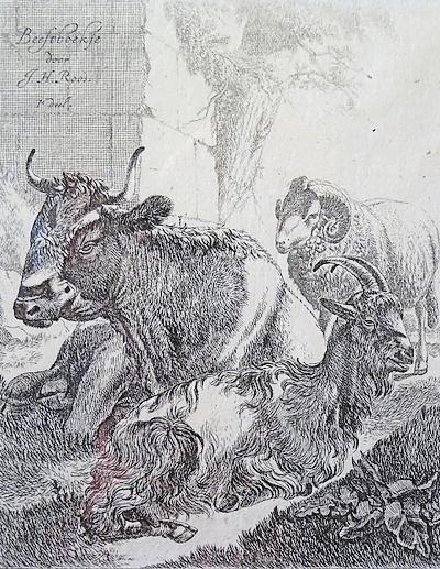 Malerisch:Druckgrafik nach Entwurf von J.H. Roos. Foto: hap