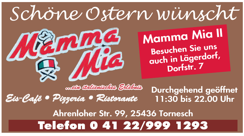 Mamma Mia - Eis-Cafe, Pizzeria, Ristorante