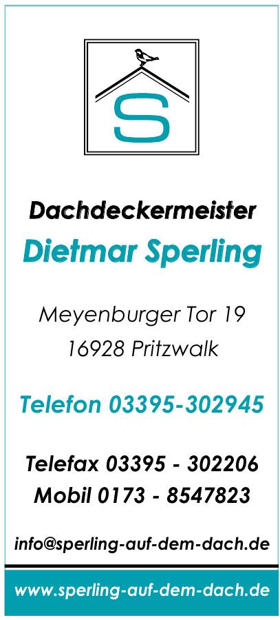 Dachdeckermeister Dietmar Sperling