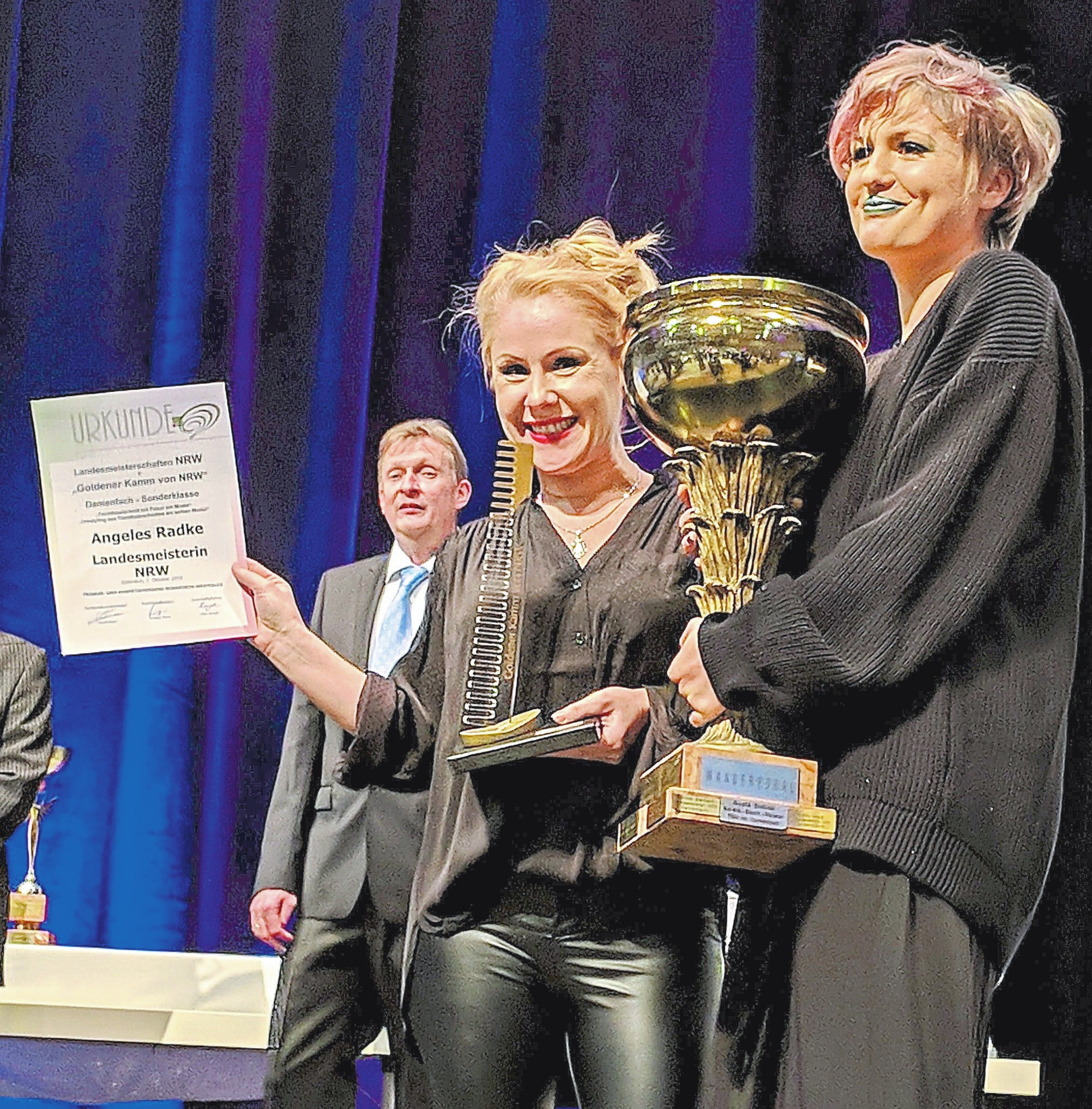 Das Team rund um Fiol Thormann ist stolz: Mitarbeiterin Angeles Radke wurde Landesmeisterin 2018.