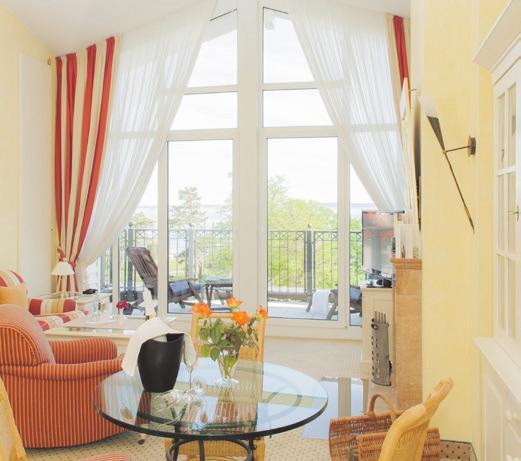 Geschmackvoll eingerichtete Suite. Foto: Grand Hotel Binz