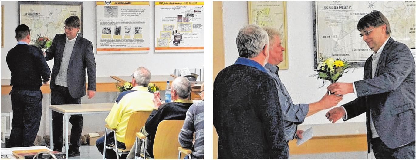 Beim Bürgerempfang dankte der Zierower Bürgermeister Frnaz-Josef Boge in diesem Jahr vor allem Hans-Günther Sellmann für sein Engagement als Leiter der Jugendfeuerwehr sowie Joachim Seelig und Holger Dobbertin für ihren unermüdlichen Einsatz in der Gemeinde. Fotos: p.