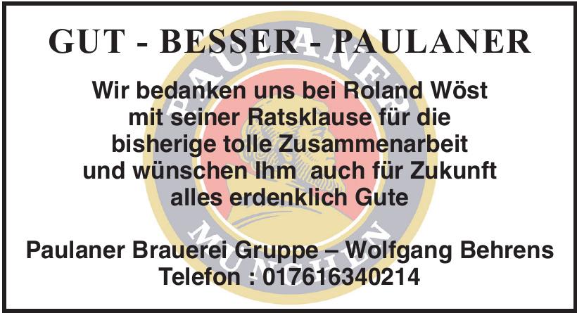 Paulaner Brauerei Gruppe – Wolfgang Behrens