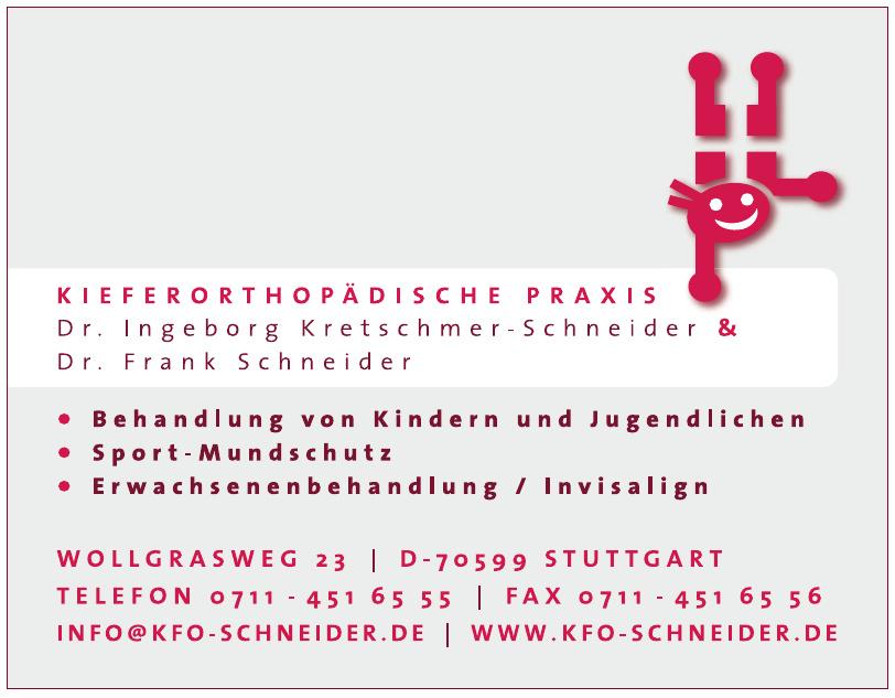 Kieferorthopädische Praxis Dr. Ingeborg Kretschmer-Schneider und Dr. Frank Schneider