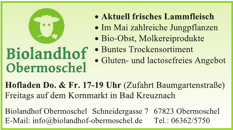 Biolandhof Obermoschel