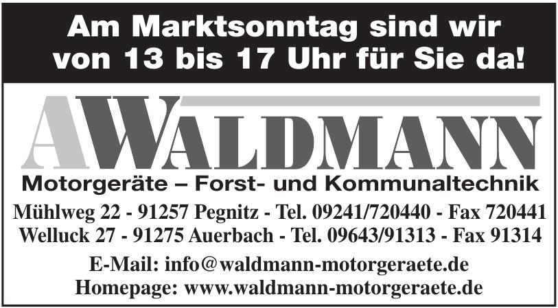A. Waldmann Motorgeräte – Forst- und Kommunaltechnik
