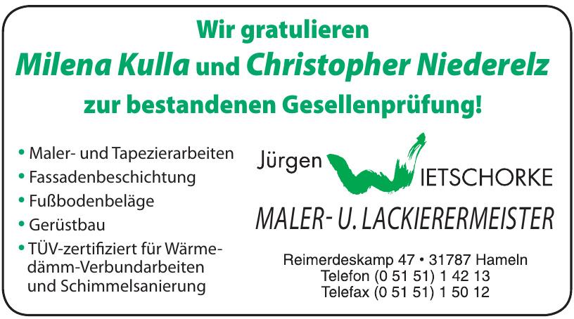 Jürgen Wietschorke Maler- und Lackiermeister