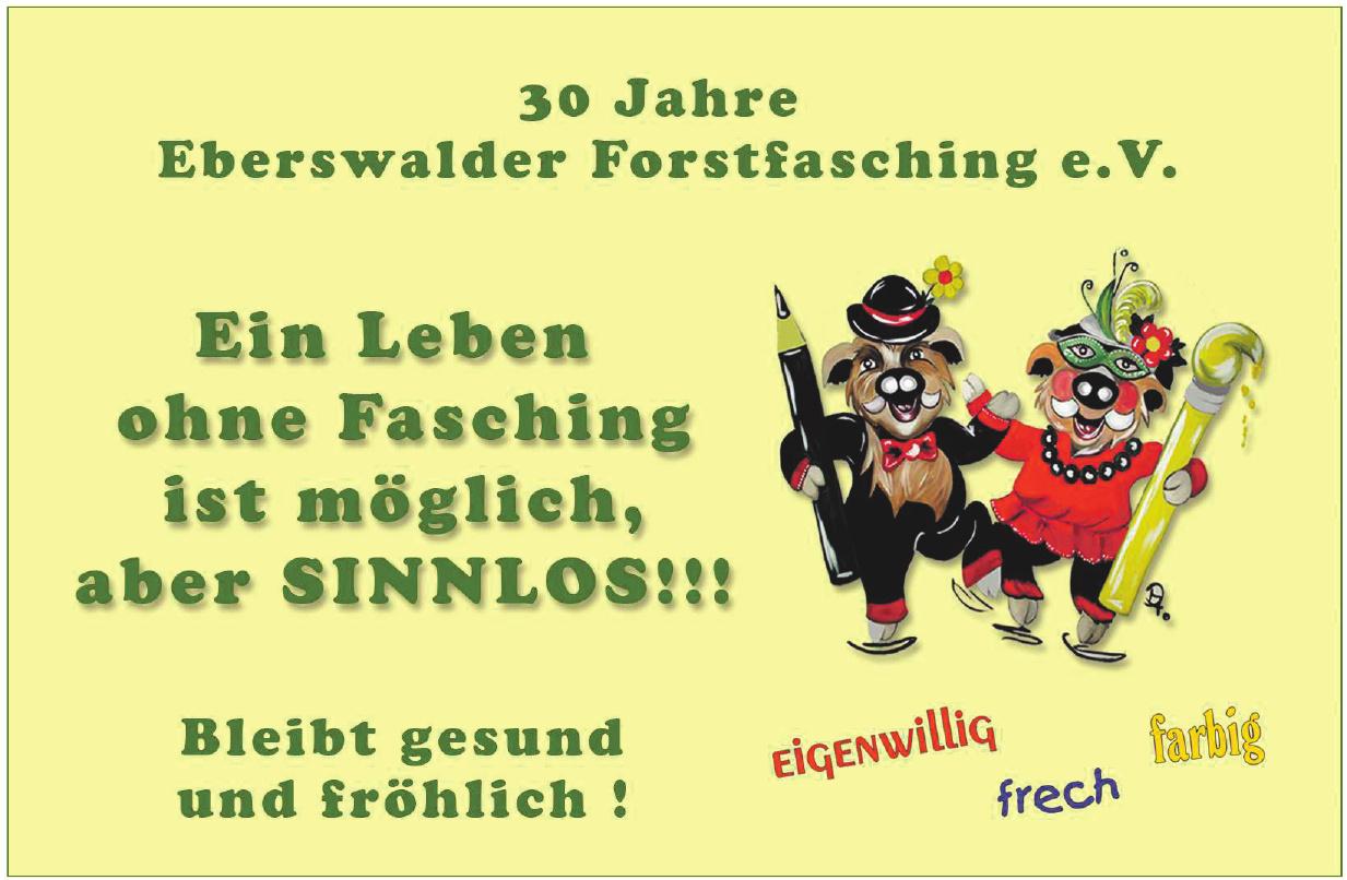 3O Jahre Eberswalder Forstfasching e.V.
