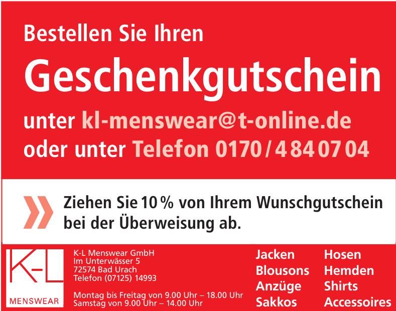 K-L Menswear GmbH