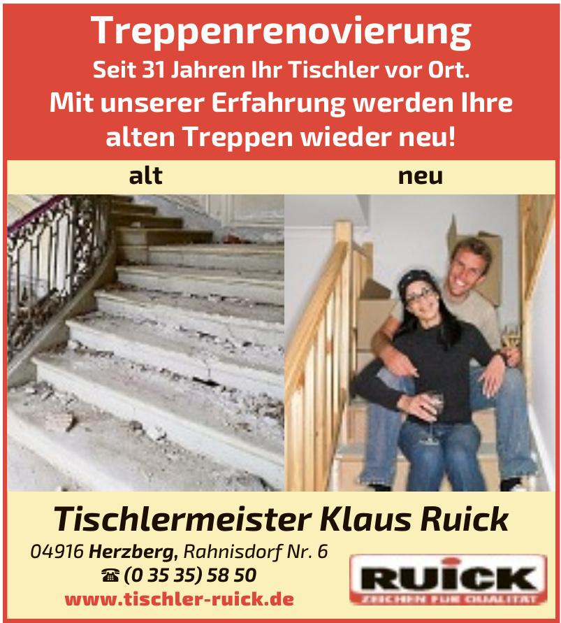 Tischlermeister Klaus Ruick