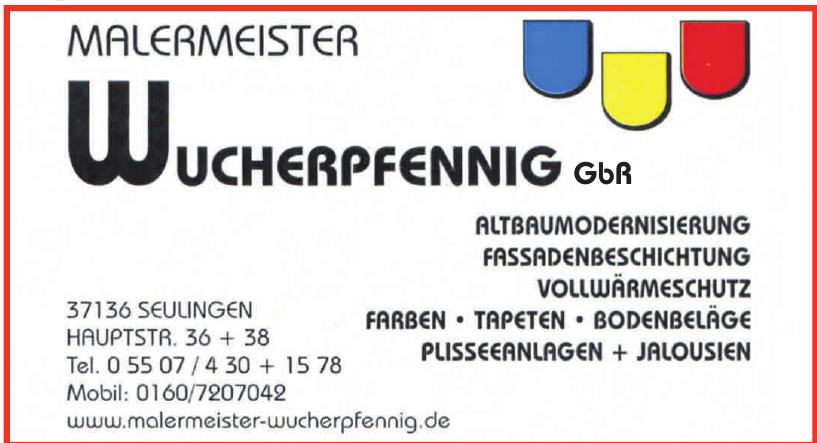 Malermeister Wucherpfennig GbR