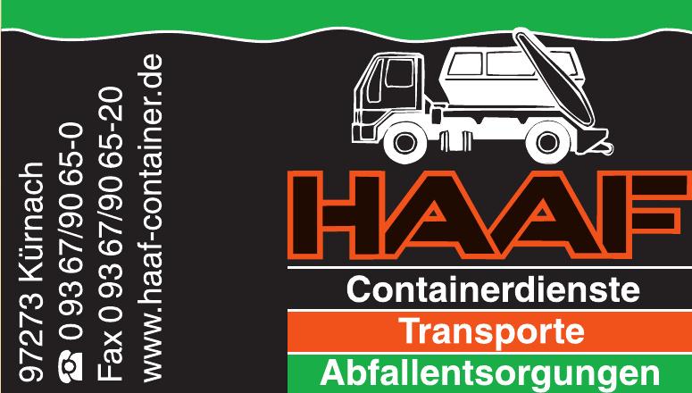 Haaf - Containerdienste - Transporte - Abfallentsorgungen