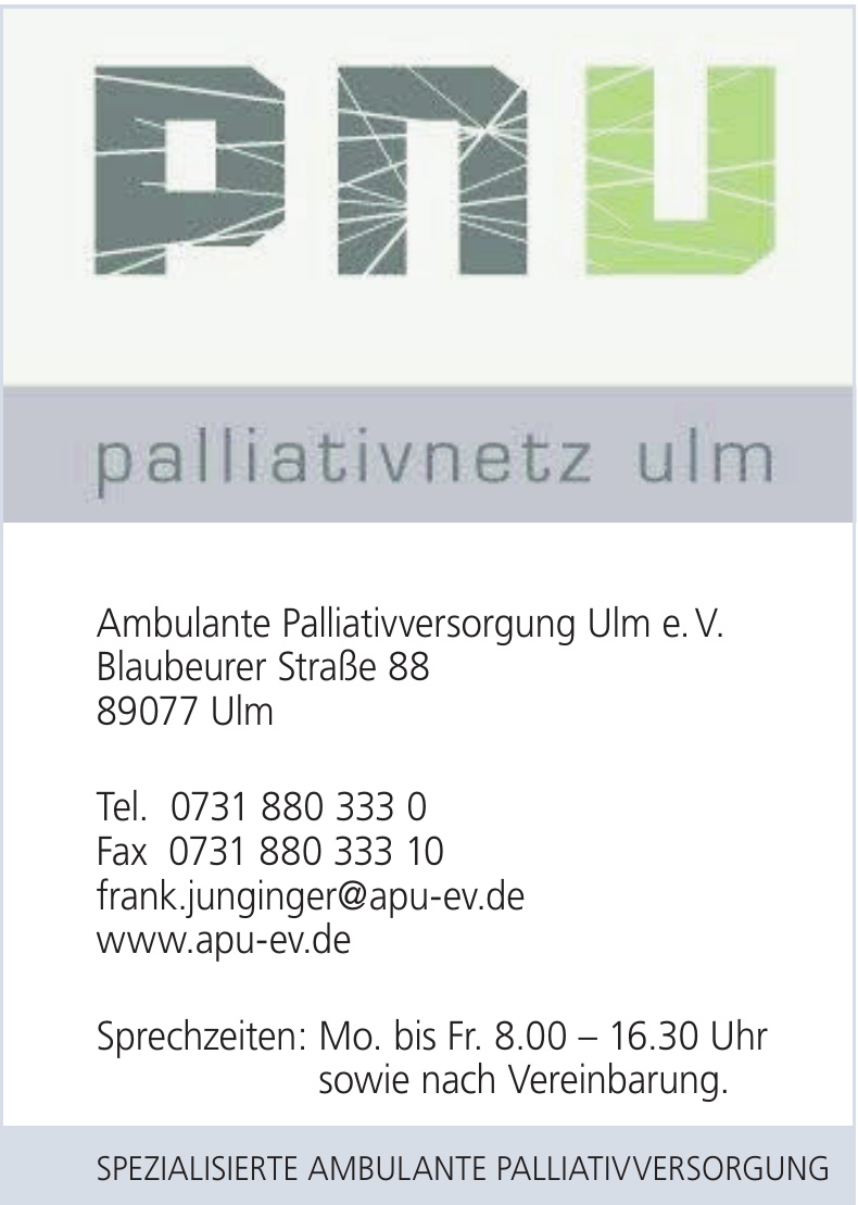 Ambulante Palliativversorgung Ulm e. V.