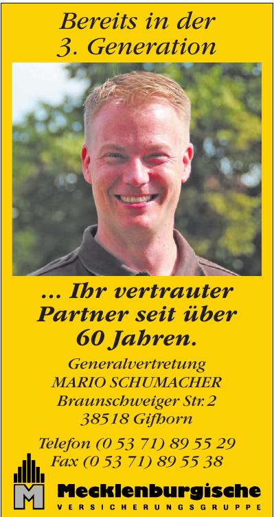 Mecklenburgische Generalvertretung Mario Schumacher
