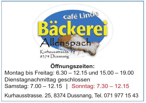 Cafe Linde Bäckerei Allenspach